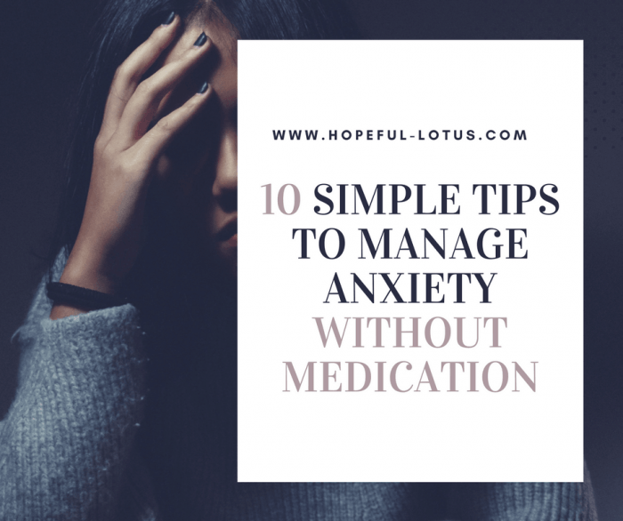 10 simple tips for managing anxiety without medication. If you're struggling with an anxiety disorder, these tools may be what you need for anxiety relief. I've tried and tested all of these self-help techniques, and they have been a massive part of my recovery from social anxiety disorder and post traumatic stress disorder. Take control of your happiness today by adding these techniques to your life!