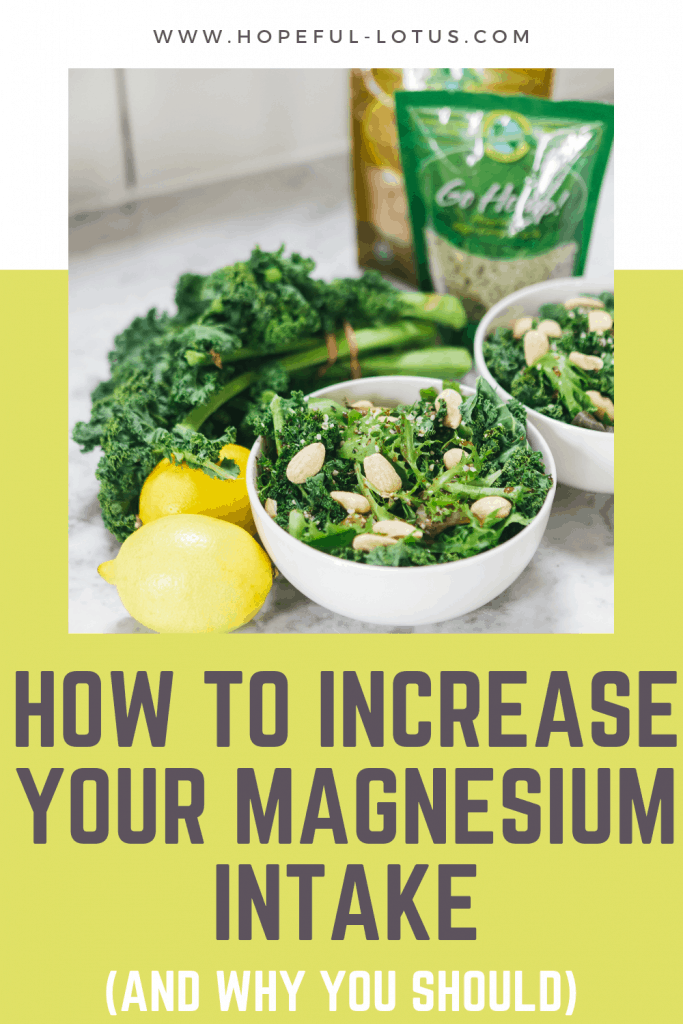How to increase your magnesium intake using magnesium rich foods and the best magnesium supplements. This post tells you all about the benefits of magnesium and why you should be consuming more of it in your life!