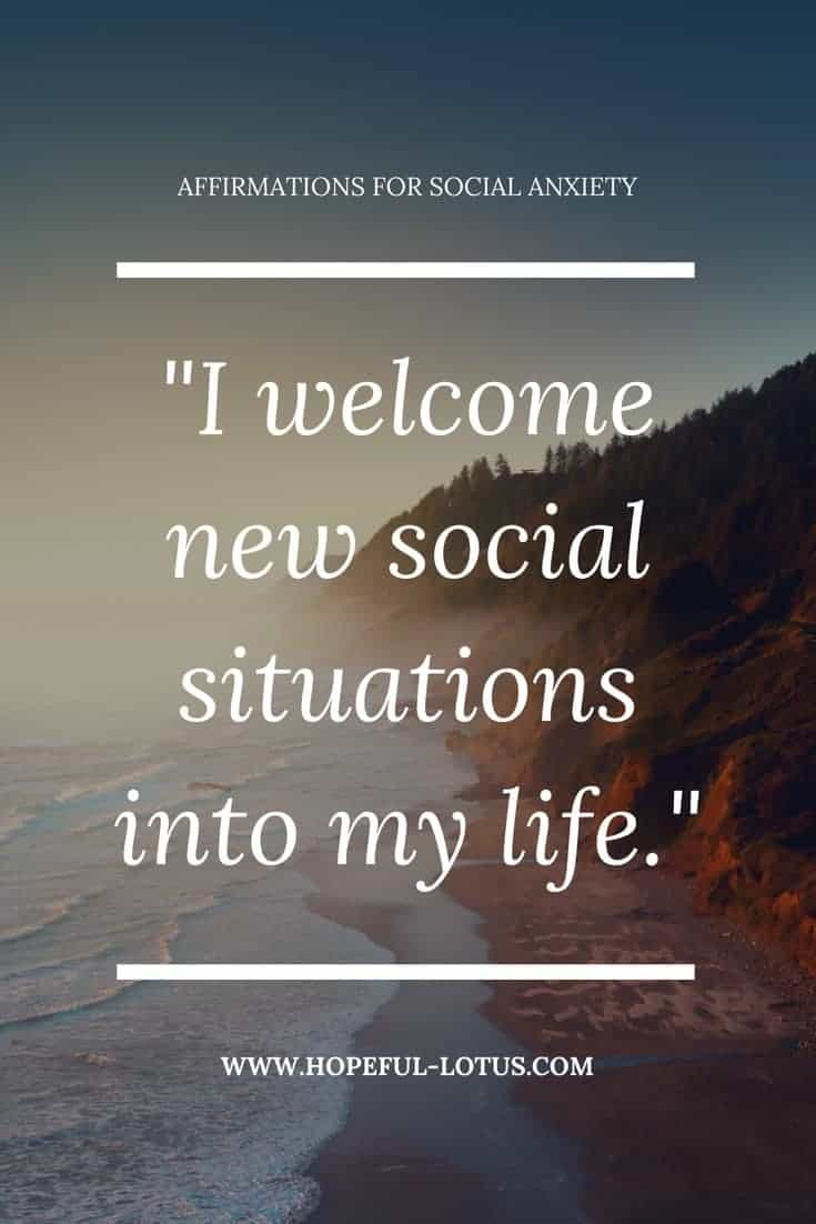 Social anxiety can be overwhelming and debilitating. Using positive affirmations for social anxiety can help calm symptoms of SAD by working with the law of attraction. Incorporate these mantras for SAD into your meditation or mindfulness practice for natural anxiety relief.