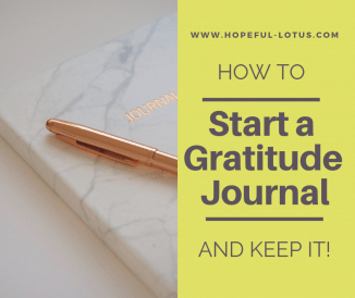 How to Start a Gratitude Journal (and Keep It!)