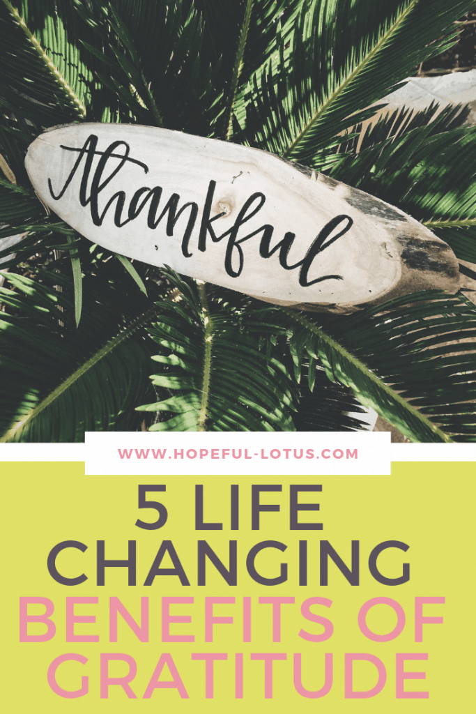 Experience the power of gratitude with these life-changing benefits of gratitude. These benefits will make you want to start an attitude of gratitude right now!