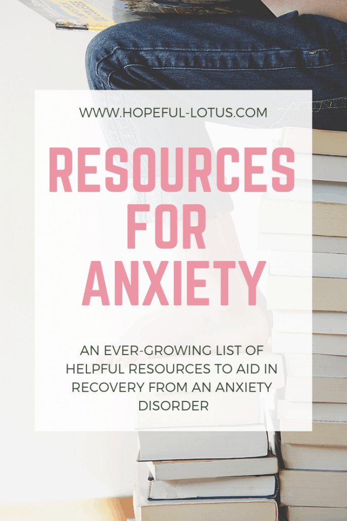 An ever-growing list of helpful resources to aid in recovery from an anxiety disorder. Whether you're suffering from GAD, social anxiety or panic disorder, check out this anxiety resource list full of self-help books, ted talks, youtube videos and more!