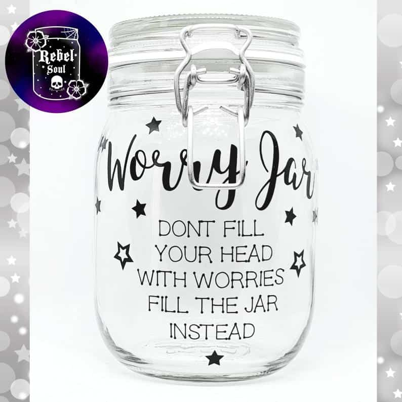 worry jar etsy