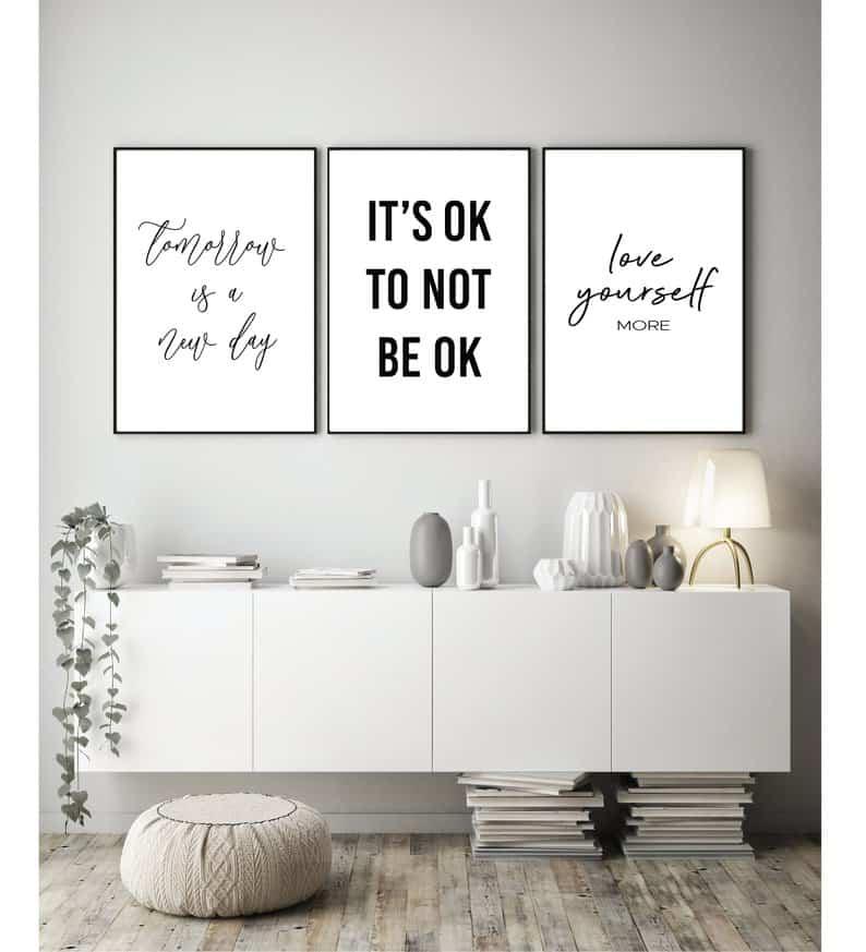 motivational prints for mental health