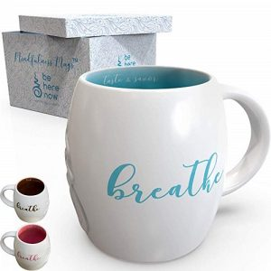 be here now mindfulness meditation gift mug
