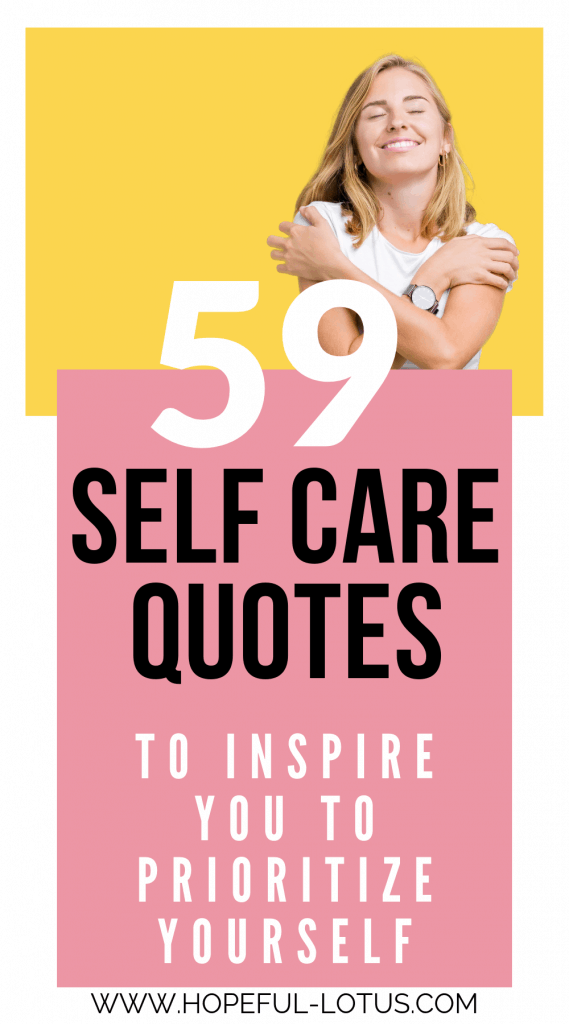 Self care is essential for our mental health! These self care quotes are full of inspiration and motivation to prioritize yourself! #selfcare